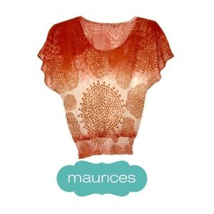 ❤️Maurices sleeveless printed blouse